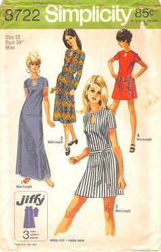 Simplicity 8722 https://www.etsy.com/listing/242326543/simplicity-8722-uncut-vintage-size-12?ref=shop_home_active_1 #sewingpatterns