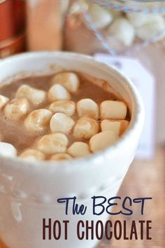 The BEST Homemade Hot Chocolate Mix - ever! | hot chocolate recipes | beverage recipes | beverages | hot drinks | homemade hot chocolate || Kitchen Meets Girl