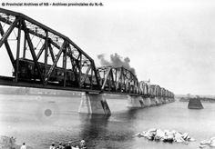 Provincial Archives of New Brunswick New Brunswick, Bridges, Trains, Canada, History, Collection, Decor, Decoration, Decorating