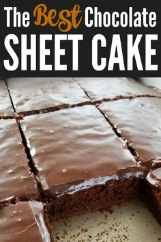 The BEST chocolate Texas sheet cake recipe that's as velvety tender as petit fours and so sinfully addictive you'll call it the devil! Informations About The BEST Chocolate Sheet Cake Pin You can easi Sheet Cake Pan, Sheet Cake Recipes, Sheet Cakes, Just Desserts, Delicious Desserts, Dessert Recipes, Frosting Recipes, Healthy Cake Recipes, Homemade Cake Recipes