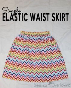 Sewing Skirts This tutorial will show you how to easily make a cute elastic waist skirt. - This tutorial gives step-by-step instructions for sewing a simple elastic waist skirt for girls of all sizes. Girls Skirt Patterns, Sewing Patterns Girls, Skirt Patterns Sewing, Sewing For Kids, Skirt Sewing, Sewing Ideas, Easy Patterns, Sewing Diy, Coat Patterns