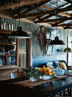 A run-down shed was transformed into a creative communal living space. Take a look at Blossom Hill Farm — a property near Rockley, about 35 kilometres south of Bathurst. Shed Conversion Ideas, Barn House Conversion, Shed Design, House Design, Garden Design, Australian Sheds, Converted Shed, Livable Sheds, Fat Shack
