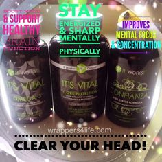 ⭐️It's Vital Omega-3 ⭐️It's Vital Core Nutrition ⭐️Confianza -All help with mental health! Message me for details! Phone: 585-689-1351 Email: heatherchannan@yahoo.com