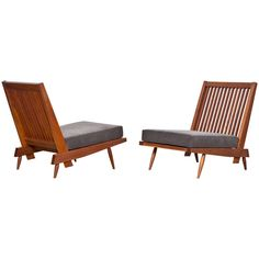 George Nakashima Lounge Chairs | From a unique collection of antique and modern lounge chairs at https://www.1stdibs.com/furniture/seating/lounge-chairs/