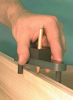MLCS Marking Center Finder could be used for a knife edge too
