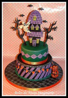 BOLOS DO NOSSO IMAGINÁRIO: Bolo Decorado #Halloween #Cake