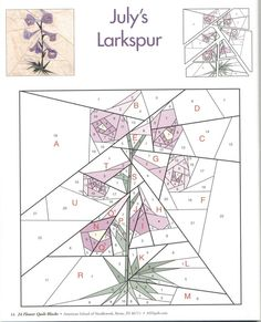 Lots of paper piecing patterns, flowers, animals, shapes Patchwork Quilting, Paper Pieced Quilt Patterns, Patchwork Patterns, Quilt Block Patterns, Quilt Blocks, Flower Patterns, Iris Folding Pattern, Flower Quilts, Picasa Web Albums
