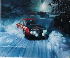 Painting: Monte Carlo by Michael Turner Michael Turner, Lancia Delta, Mobile Art, Car Illustration, Car Posters, Car Drawings, Car Sketch, Automotive Art, Car Painting