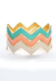 These are the perfect spring chevron bangles