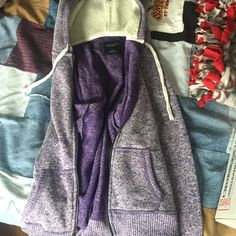 American eagle zip up Very warm purple zip up worn once, like new. American Eagle Outfitters Tops Sweatshirts & Hoodies