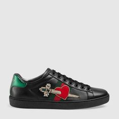 Gucci Sneaker Ace ricamata in pelle Sneakers In Pelle 1ed0af4bf1f0