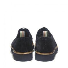 Precioso zapato de ante azul tipo blucher marca Yokus. Elegante y divertido para ir a la última!