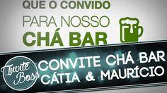Convite Animado Chá Bar (Texto Animado) - Cátia e Maurício
