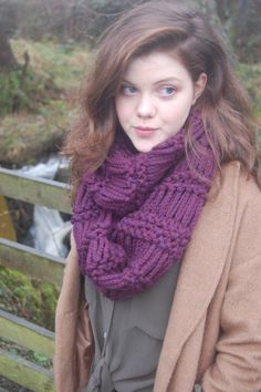 "©Handsome Badger  ""Originally designed for my sister Georgie Henley this is a unique piece that can be worn with everything again and again. A soft, luxurious snood is a staple piece for keeping you stylish and cosy. Handknitted in the UK with the utmost care and love, this investment piece will turn heads for seasons to come."""