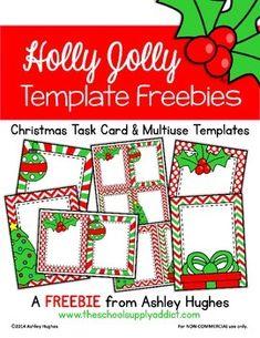 Holly Jolly Templates {FREEBIE}