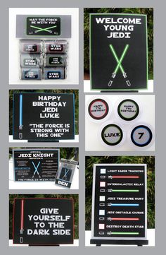Star Wars Birthday Party Invitation & full von SIMONEmadeit auf Etsy