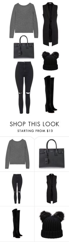 """""""Untitled #768"""" by gigi3646 ❤ liked on Polyvore featuring Equipment, Yves Saint Laurent, Topshop, Pieces and Aquazzura"""