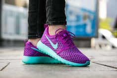 "Nike Roshe One Flight Weight (GS) ""Hyper Violet"" (705486-502) - http://goo.gl/NC3QsY"