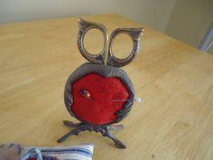 Owl Pincushion and Scissors