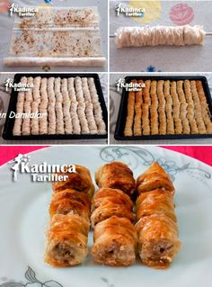 Hazır Yufkadan Burma Tatlısı Tarifi New Cake Design, Cake Designs, What Is Cake, Beignets, Chocolate Recipes, How To Make Cake, Sausage, Cooking Recipes, Catering