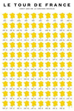 A commemorative poster of all 100 Tours of the Tour de France since 1903, courtesy of Sam Potts.