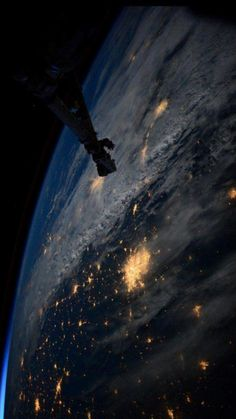 The view from the International Space Station tweeted by Scott Kelly.
