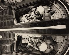 Crew members Ed White and James McDivitt during pre-launch preparations for Gemini 4 in White was killed January 1967 with fellow astronauts Gus Grissom and Roger Chaffee during pre-launch testing for Apollo when fire broke out in their capsule Nasa Missions, Apollo Missions, Gus Grissom, Project Gemini, Soyuz Spacecraft, Apollo Space Program, Project Mercury, Space Race, Apollo 1