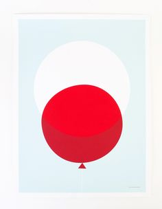 This red balloon print gives a whole new meaning to a pop of color.