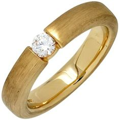 Damen-Ring mattiert 14 Karat (585) Gelbgold 1 Diamant 0.25 ct. 58 (18.5) Dreambase, http://www.amazon.de/dp/B00EYH3PH0/ref=cm_sw_r_pi_dp_tWljtb0MGHM0E