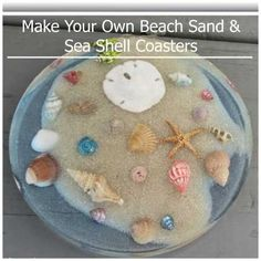Your Vacation Memories Want to pretend you're at the beach when you're not? Make these Sea Shell Coasters & allow yourself to dream!Want to pretend you're at the beach when you're not? Make these Sea Shell Coasters & allow yourself to dream! Beach Themed Crafts, Beach Crafts, Summer Crafts, Seashell Art, Seashell Crafts, Resin Crafts, Diy Crafts, Resin Art, Indoor Crafts