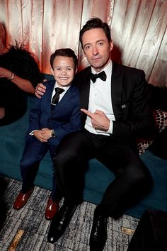Hugh Jackman and Sam Humphrey in The Greatest Showman Hugh Michael Jackman, Hugh Jackman, I Movie, Movie Stars, Dou Dou, Celebrity Dads, Celebrity Style, The Greatest Showman, Films
