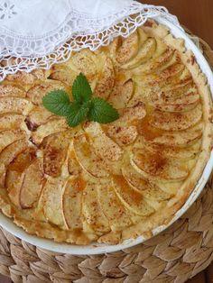 Kouzlo mého domova: Křehký jablečný koláč s mascarpone a meruňkovou po...