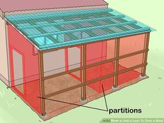 How to Add a Lean To Onto a Shed. When your shed or other storage building no longer provides enough room, you can add additional storage if you add a lean-to onto a shed. If the existing shed is structurally sound and has an exterior wall. Lean To Shed Plans, Diy Shed Plans, Diy Storage Shed, Built In Storage, Lean To Roof, Curved Pergola, Shed Kits, Backyard Sheds, Garden Sheds