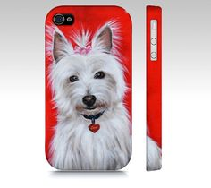 Westie terrier dog phone case for iPhone 4/ 4S 5/ by MimoCadeaux: https://www.etsy.com/listing/207910189/westie-terrier-dog-phone-case-for-iphone