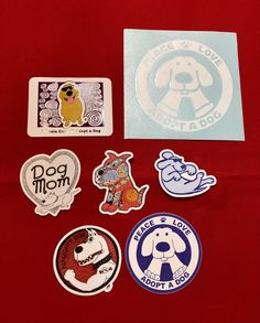 Here is you chance to get a variety of Binky and Bell's best selling stickers all in one neat bundle! You get the following stickers: *Dog Mom* *Floating* *Golden Dog* *Naughty Dog* *Red Zentangle Dog* *Large Ghost Sticker and small Peace Love Adopt a Dog stickers* Designed by Binky and Bell. Great for putting on your car, laptop, favorite reusable water bottle or commuter mug. Perfect little gift for any and all dog lovers! Made in USA. Free shipping within U.S.