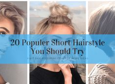 20 Populer Short Hairstyle You Should Try - My list of woman hairstyles Latest Short Hairstyles, Retro Hairstyles, Hairstyles For Round Faces, Trending Hairstyles, Straight Hairstyles, Woman Hairstyles, Very Short Hair, Short Hair Cuts, Short Hair Styles