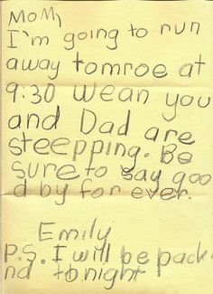 POPHANGOVER » Blog Archive » 22 Hilarious Notes From Kids