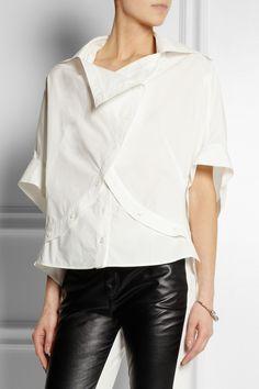 McQ Alexander McQueen Deconstructed cotton shirt NET-A-PORTER.COM