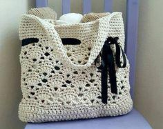 Daisy Fields Market Tote Crochet Pattern PDF FILE ONLY