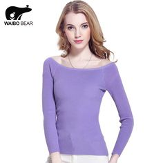 New Cashmere Sweater Women Spring Cashmere Pullovers Long Sleeve Slash Neck Slim Knitwear spring Knitted Jumper Do you want it www.lady-fashion.... #shop #beauty #Woman's fashion #Products