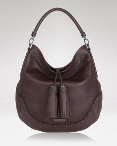 702879a33a Burberry Hobo - Tassel Leather