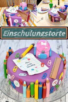 Baby Girl Birthday Cake, Baby Girl Cakes, Creative Cake Decorating, Creative Cakes, Teacher Cakes, Abc Party, School Cake, School Parties, Cakes For Boys