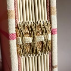 I& spent the last year or so endeavouring to expand my repertoire of stitches . practised& devised on card as I am t. Handmade Journals, Handmade Books, Journal Covers, Book Journal, Book Crafts, Paper Crafts, Bookbinding Tutorial, Bookbinding Ideas, Book Spine