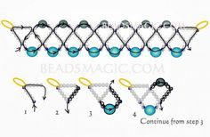 FREE Pattern for Necklace ISLANDIA. Page 2/2. From Beads Magic. Use: seed beads 11/0, pearls 8mm and 6mm.