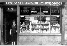 Mementoes of Tower Hamlets - Commercial section - Shop on junction of Selby Street and Vallance Road Bethnal Green (circa This photograph shows, Mary Davis (my aunt), the proud proprietor of The Vallance Drug Stores. London History, British History, Asian History, Tudor History, Vintage London, Old London, British Shop, East End London, Green Pictures