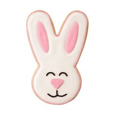 Smiley Face Easter Bunny Cookies Wilton ❤ liked on Polyvore featuring bunnies, easter egg, egg, puppies and rabbit