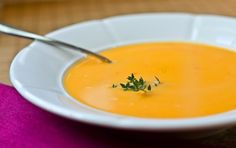 The Easiest Butternut Squash Soup Ever Add an apple to the chopped veggies, and a dash of curry powder...