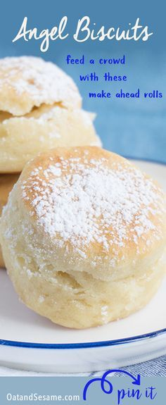 The easiest, fool-proof homemade yeast rolls ever! Make a million little Angel Biscuits and you'll be the hero at any table! | Recipe at http://OatandSesame.com