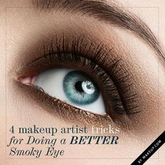 """Tips for that """"smoky eye"""" look."""