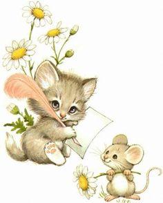37 Ideas De Cat Mouse Gatos Animales Arte Con Gatos